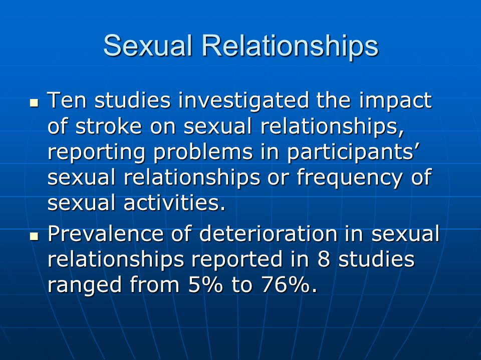 Sexual Relationships