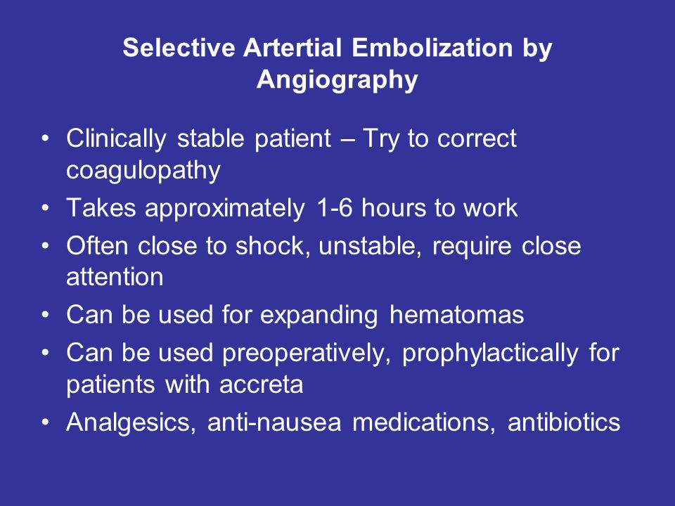 Selective Artertial Embolization by Angiography