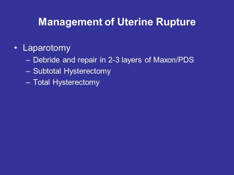 Management of Uterine Rupture