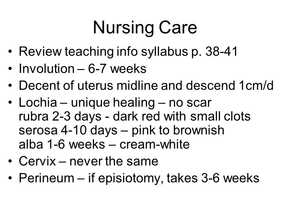 Nursing Care Review teaching info syllabus p. 38-41