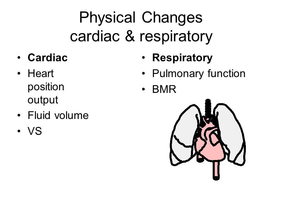 Physical Changes cardiac & respiratory