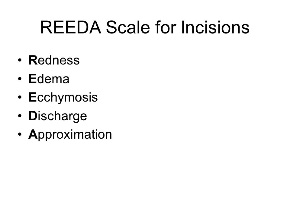 REEDA Scale for Incisions