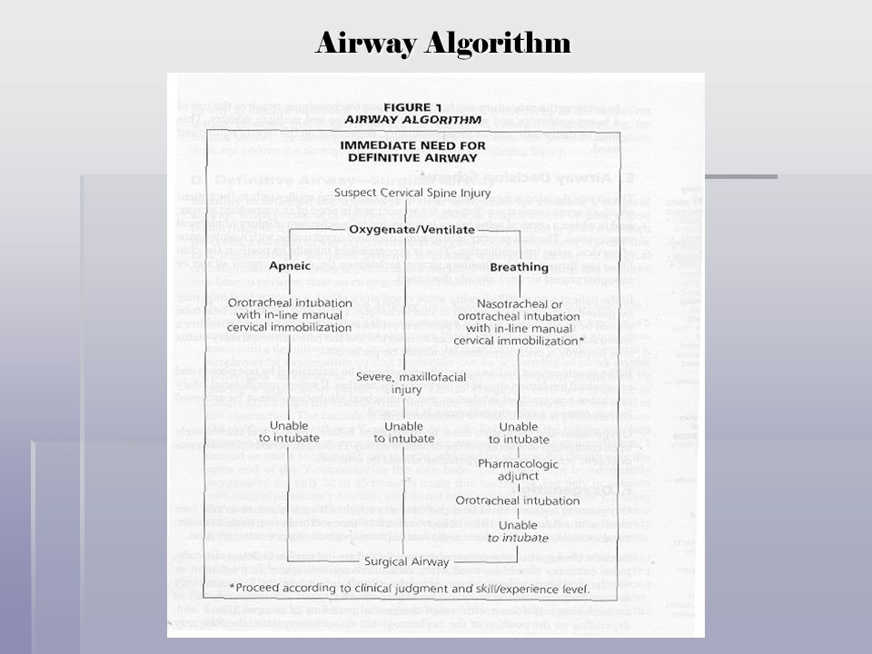 Airway Algorithm
