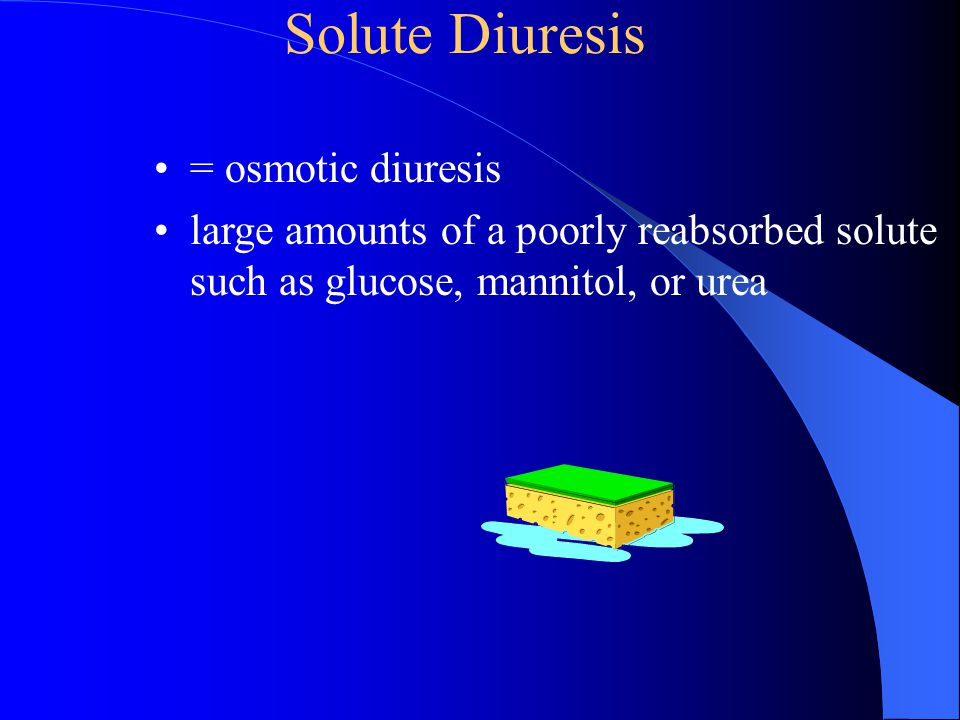 Solute Diuresis = osmotic diuresis