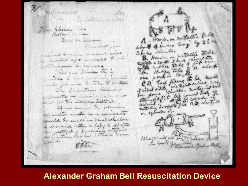 Alexander Graham Bell Resuscitation Device