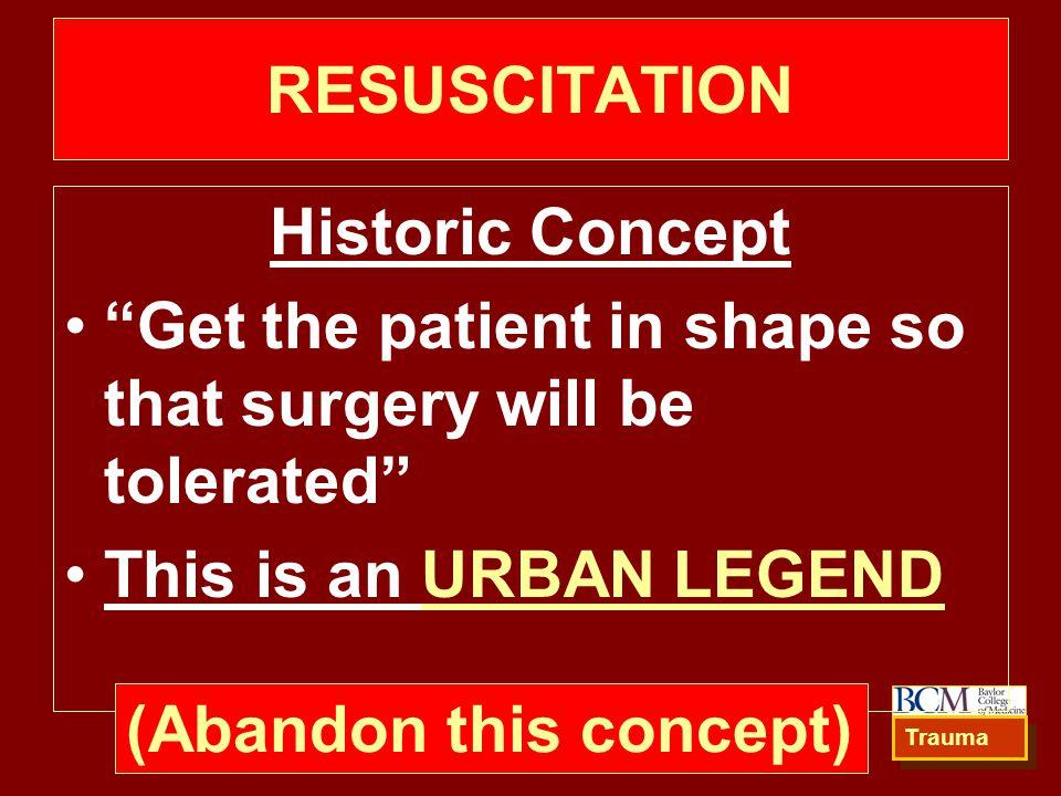 RESUSCITATION Historic Concept