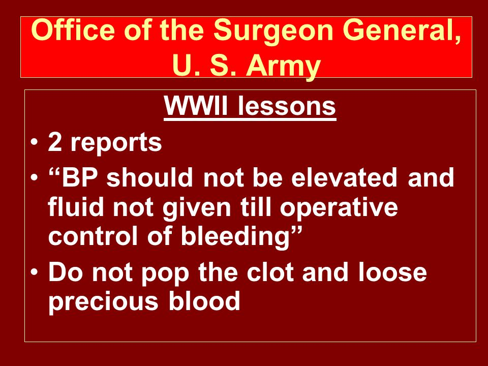 Office of the Surgeon General, U. S. Army