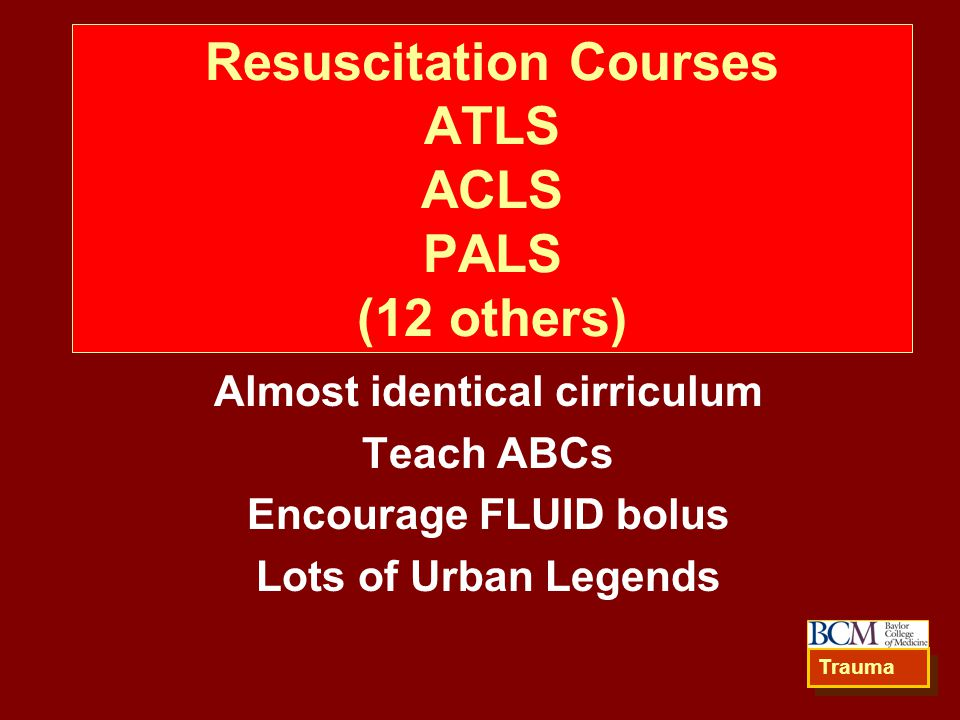 Resuscitation Courses ATLS ACLS PALS (12 others)