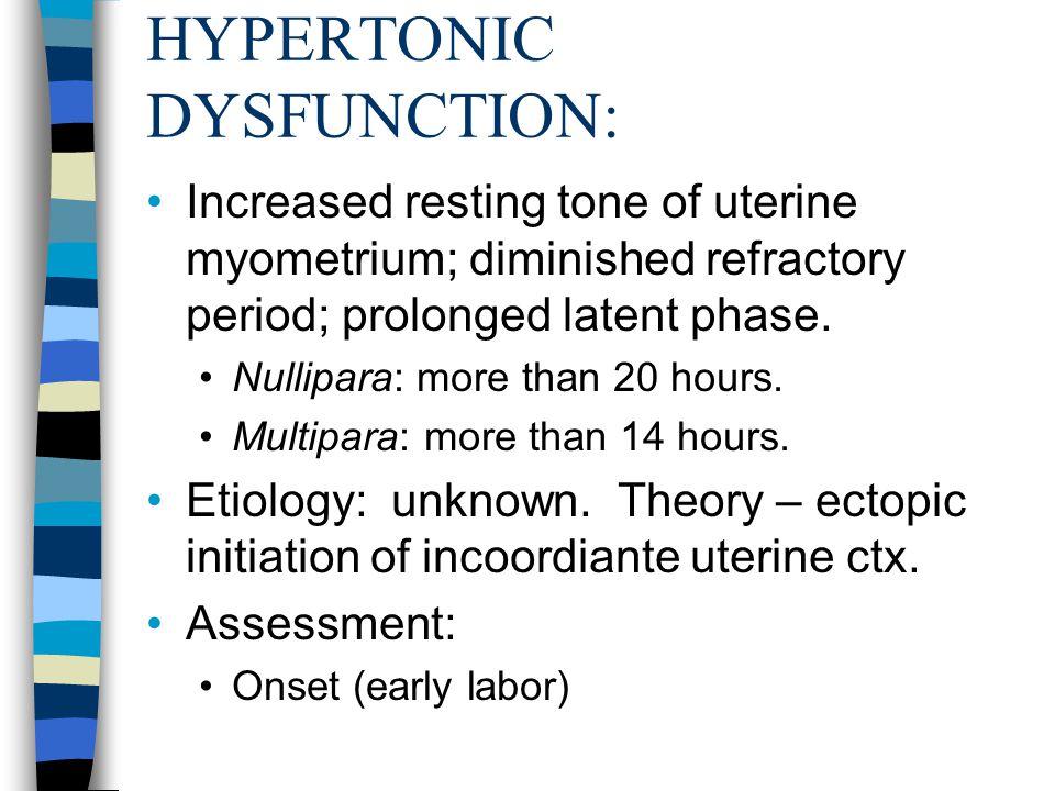 HYPERTONIC DYSFUNCTION: