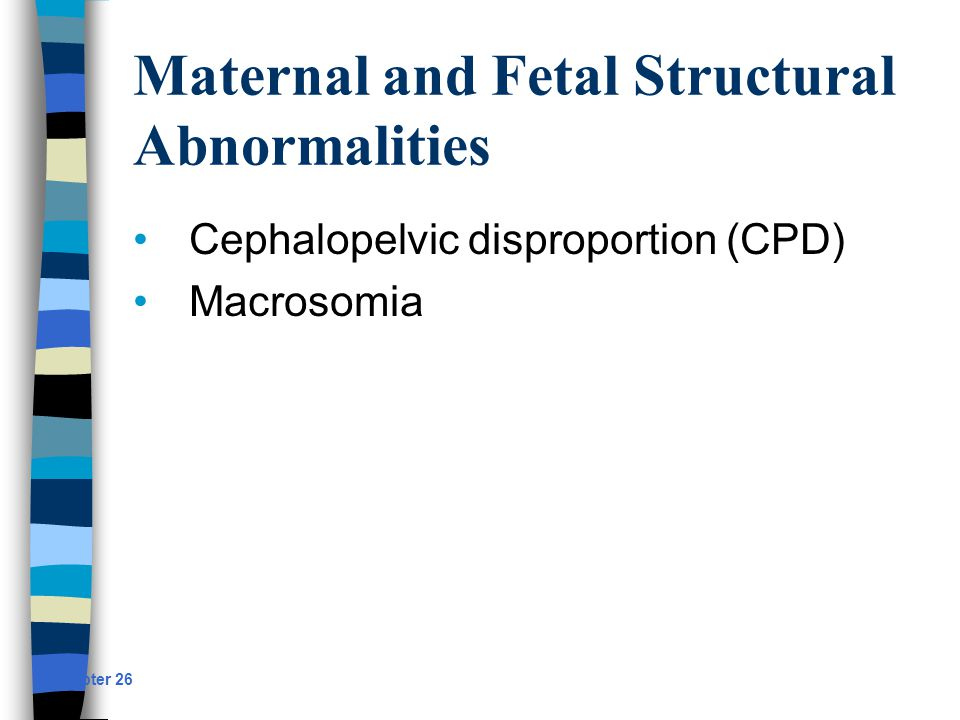 Maternal and Fetal Structural Abnormalities