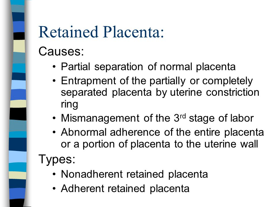 Retained Placenta: Causes: Types: