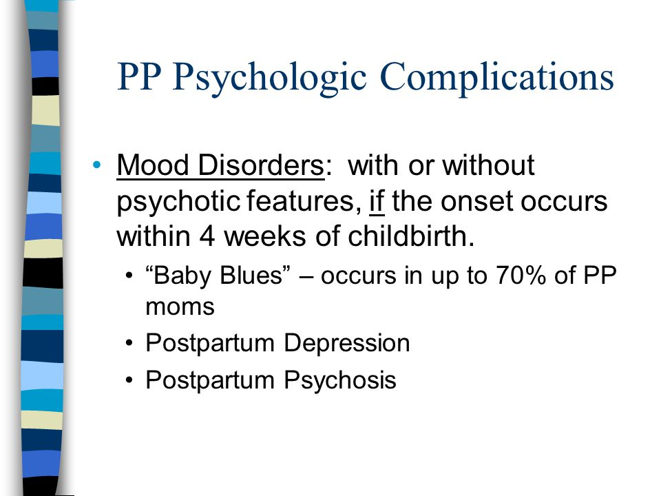 PP Psychologic Complications
