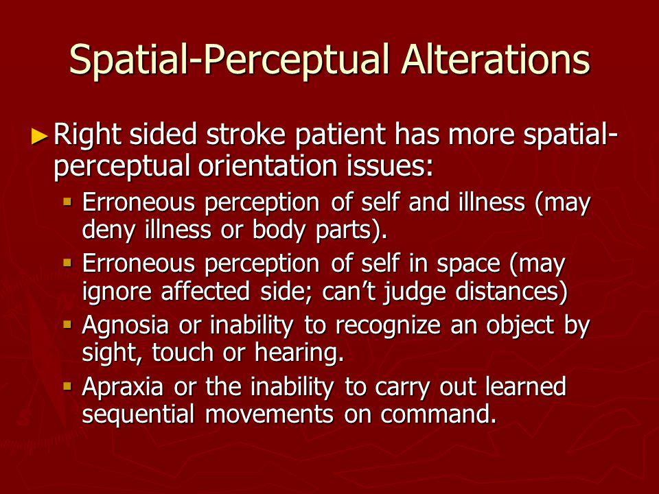Spatial-Perceptual Alterations