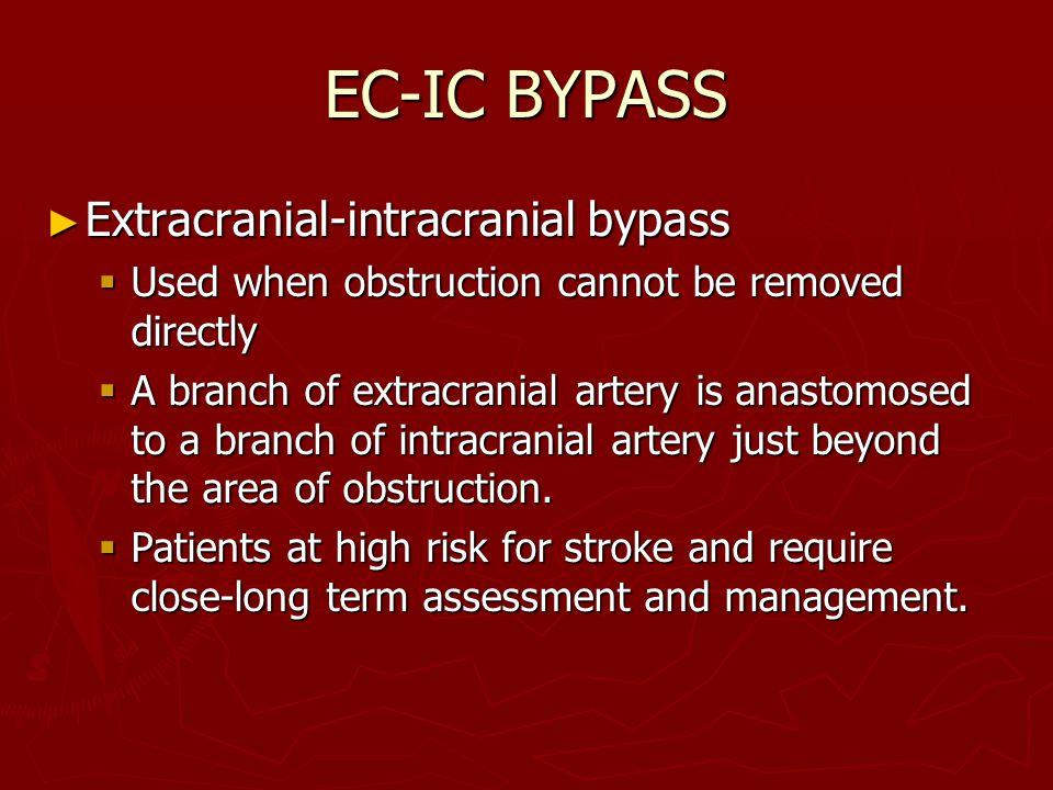 EC-IC BYPASS Extracranial-intracranial bypass
