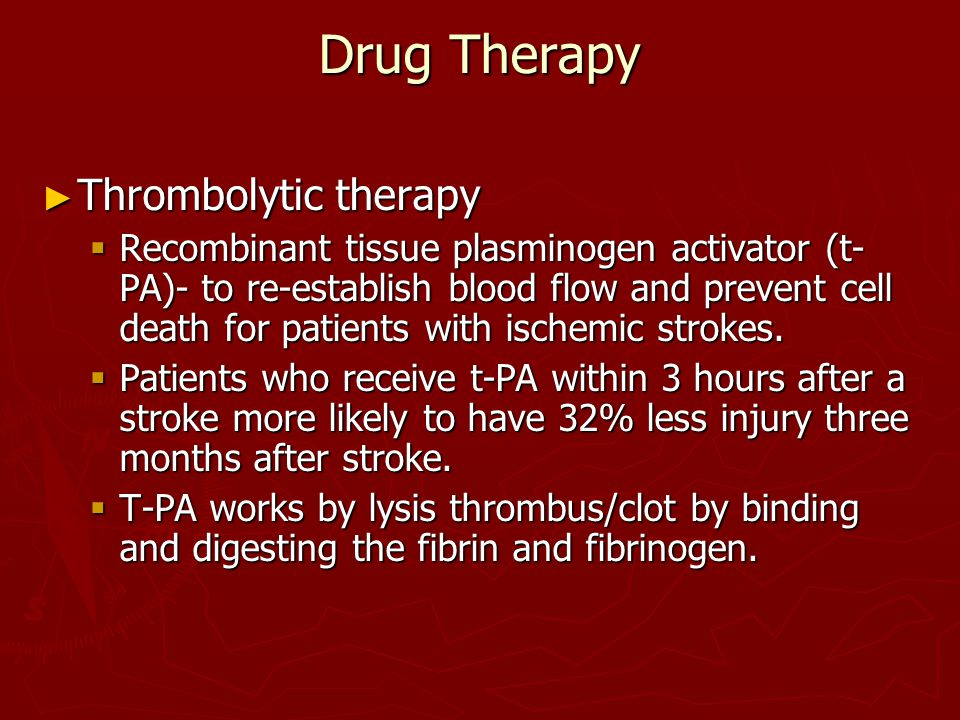Drug Therapy Thrombolytic therapy