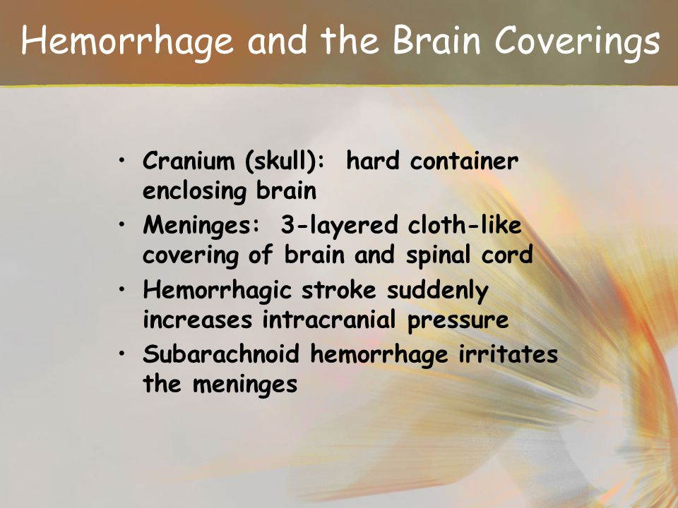 Hemorrhage and the Brain Coverings