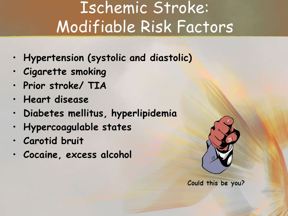 Ischemic Stroke: Modifiable Risk Factors