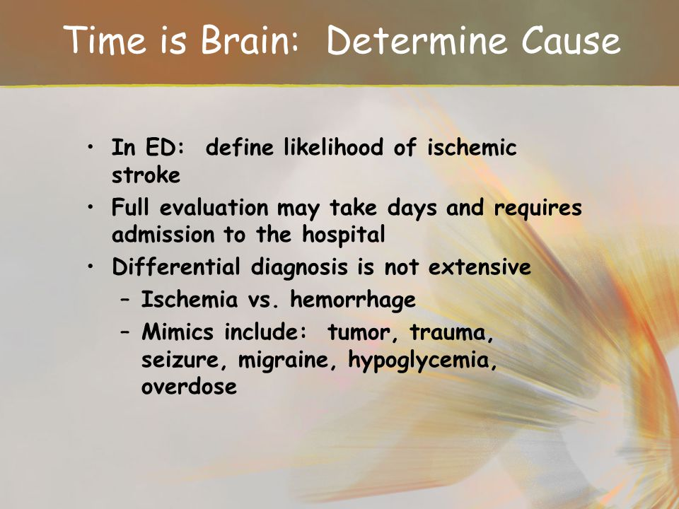 Time is Brain: Determine Cause