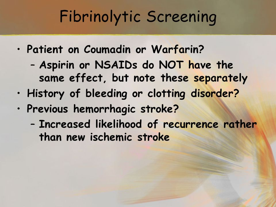 Fibrinolytic Screening