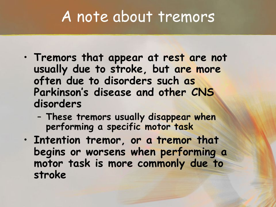 A note about tremors