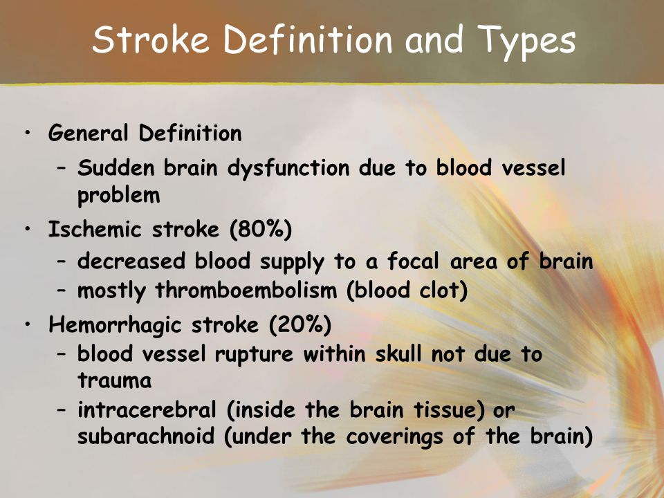 Stroke Definition and Types