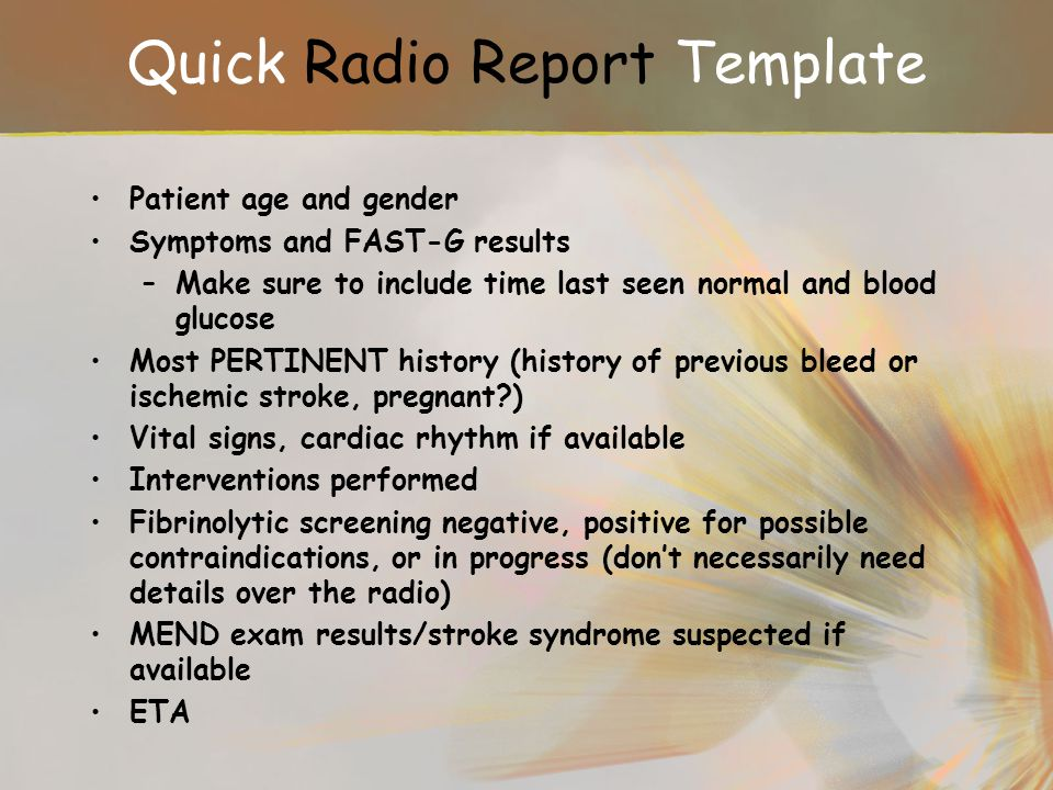 Quick Radio Report Template
