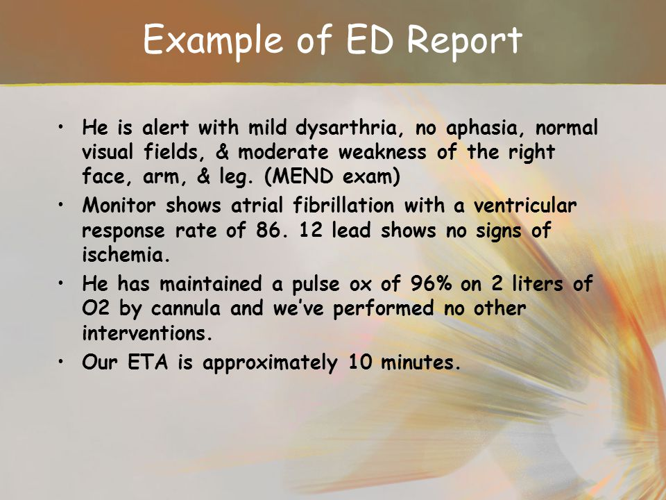 Example of ED Report