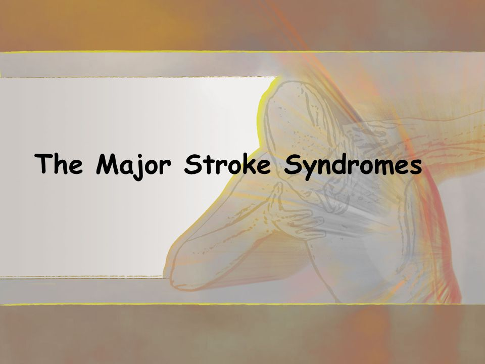 The Major Stroke Syndromes