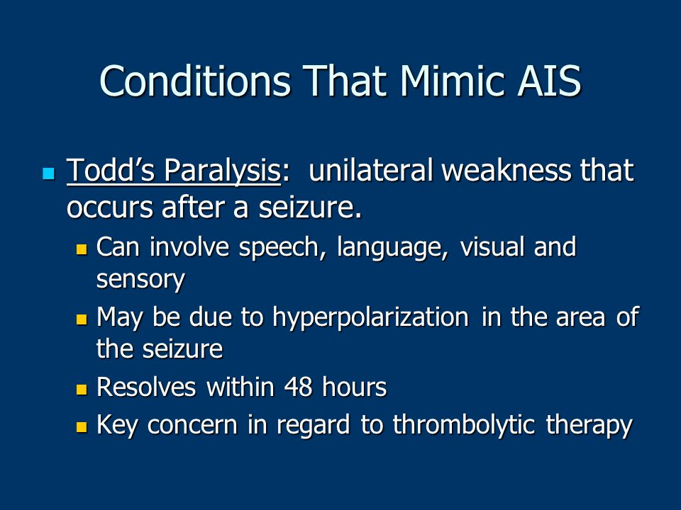 Conditions That Mimic AIS