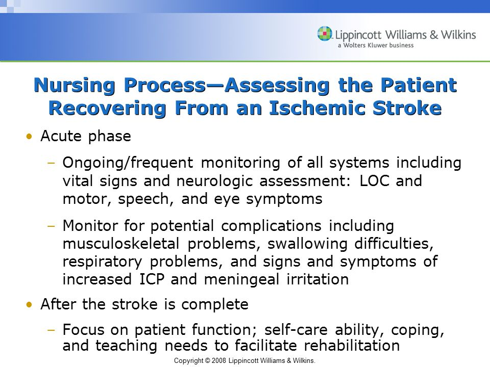 Nursing Process—Assessing the Patient Recovering From an Ischemic Stroke