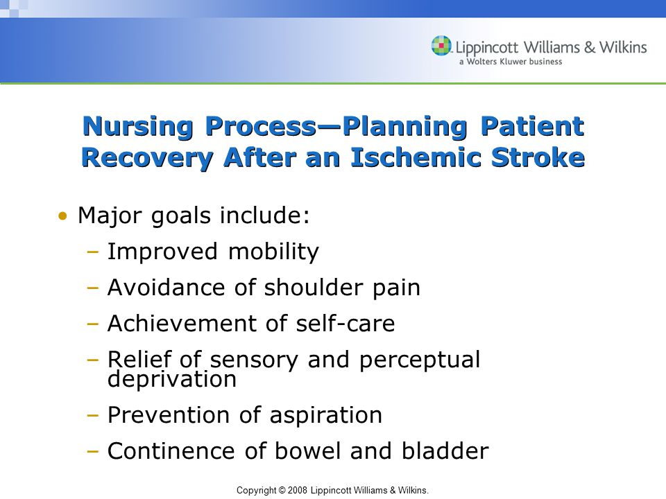 Nursing Process—Planning Patient Recovery After an Ischemic Stroke
