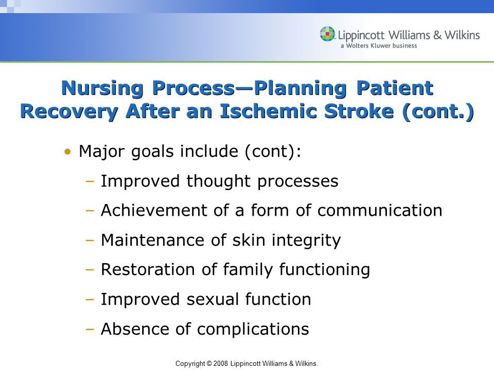Nursing Process—Planning Patient Recovery After an Ischemic Stroke (cont.)