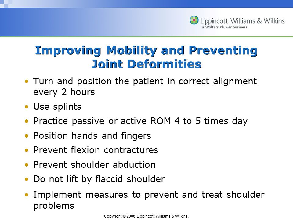 Improving Mobility and Preventing Joint Deformities