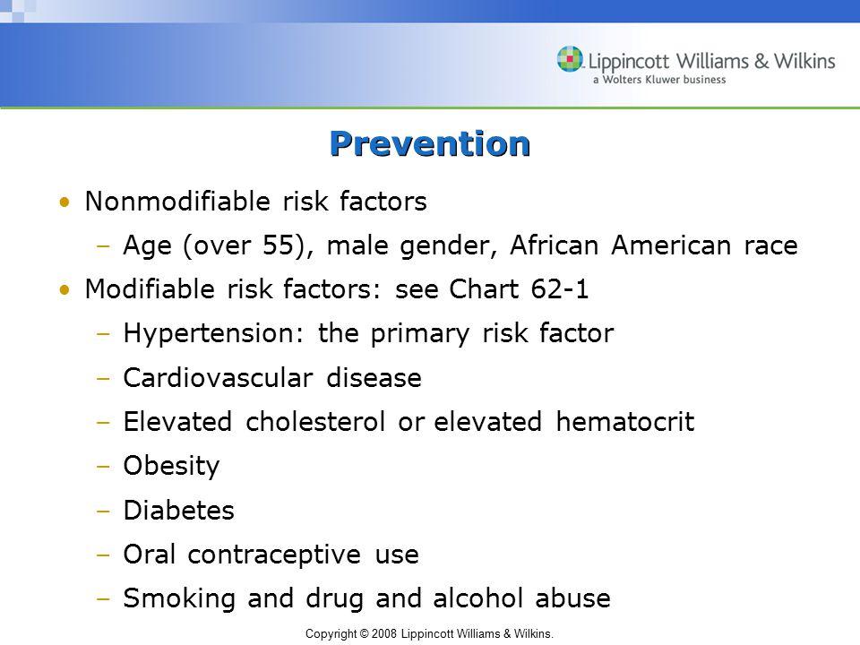 Prevention Nonmodifiable risk factors
