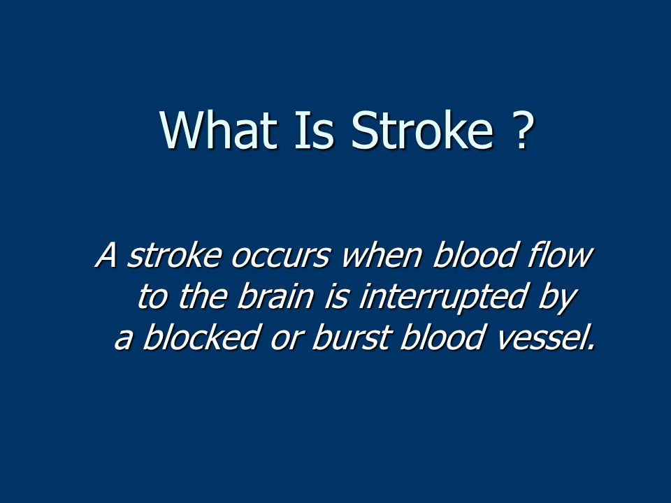 What Is Stroke .