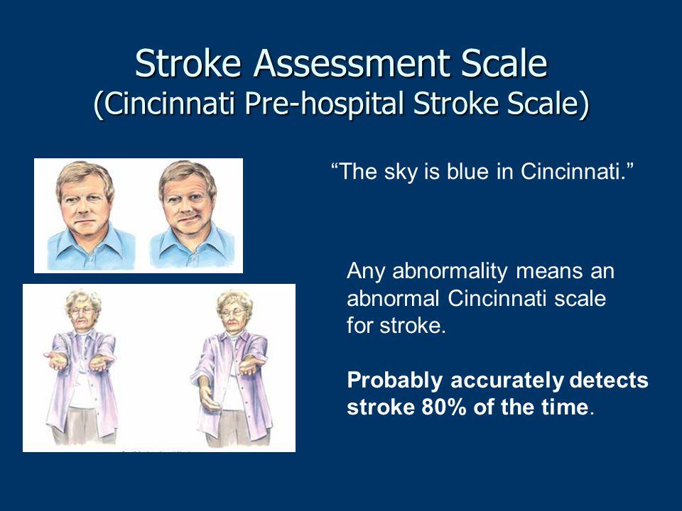 Stroke Assessment Scale (Cincinnati Pre-hospital Stroke Scale)