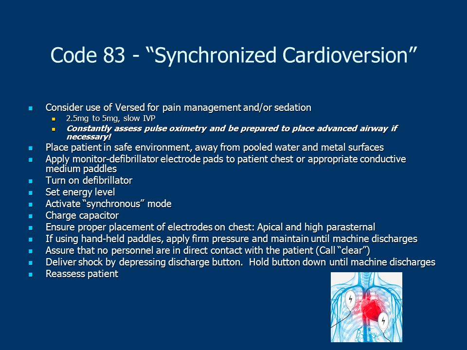 Code 83 - Synchronized Cardioversion