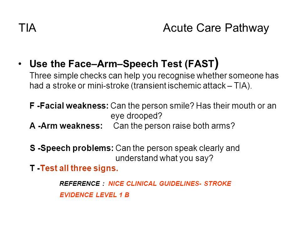 TIA Acute Care Pathway