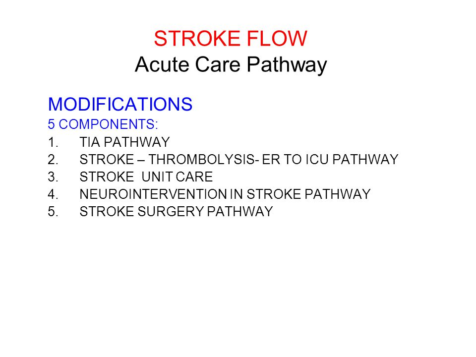 STROKE FLOW Acute Care Pathway