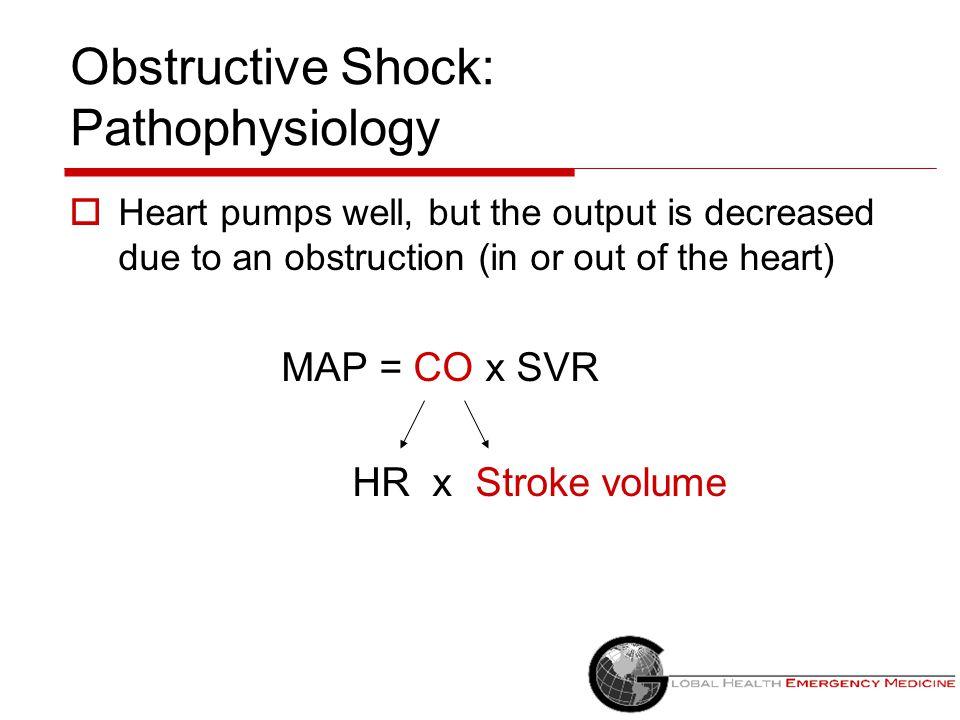 Obstructive Shock: Pathophysiology