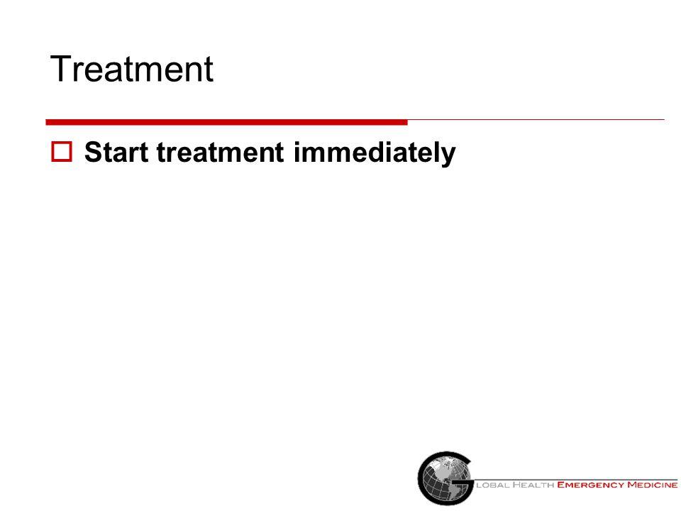 Treatment Start treatment immediately