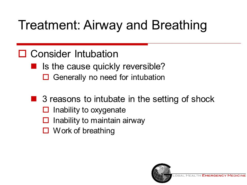 Treatment: Airway and Breathing
