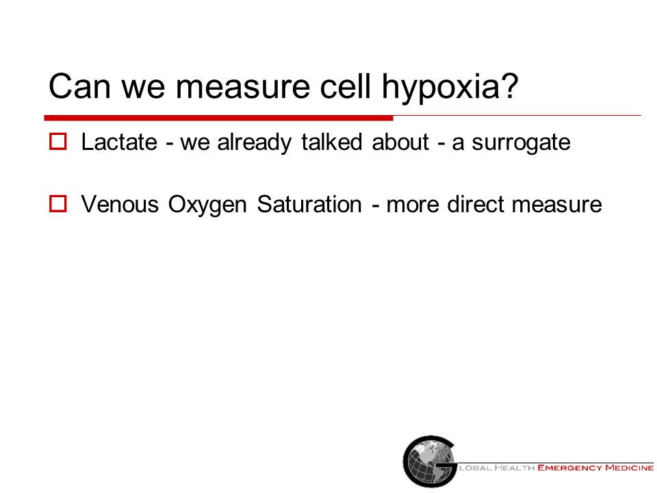 Can we measure cell hypoxia