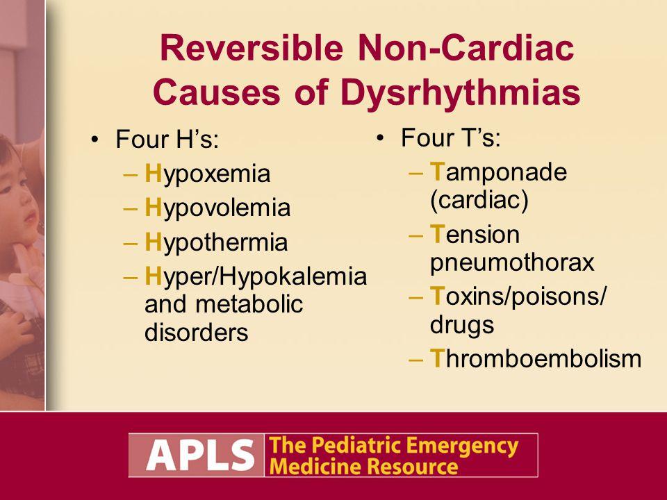 Reversible Non-Cardiac Causes of Dysrhythmias