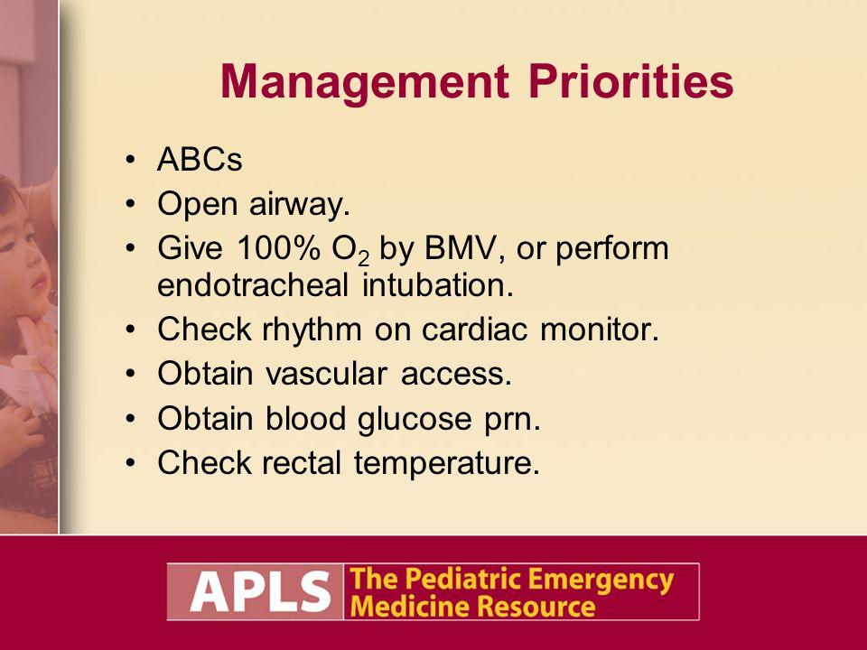 Management Priorities