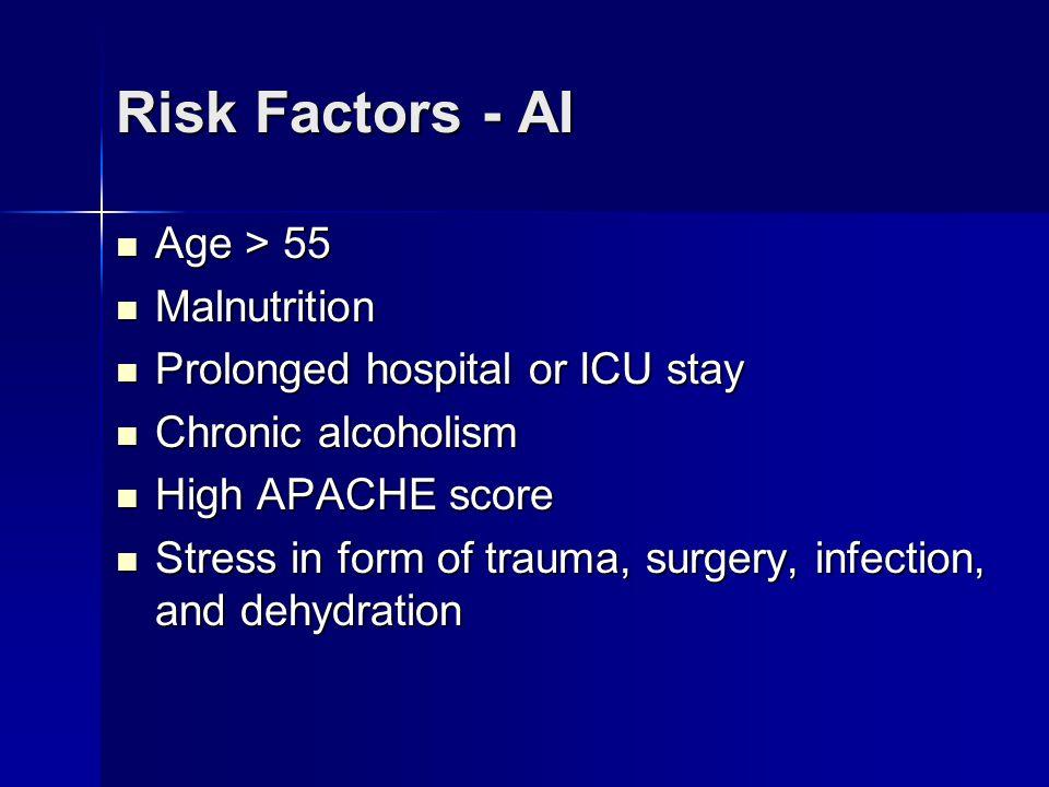 Risk Factors - AI Age > 55 Malnutrition