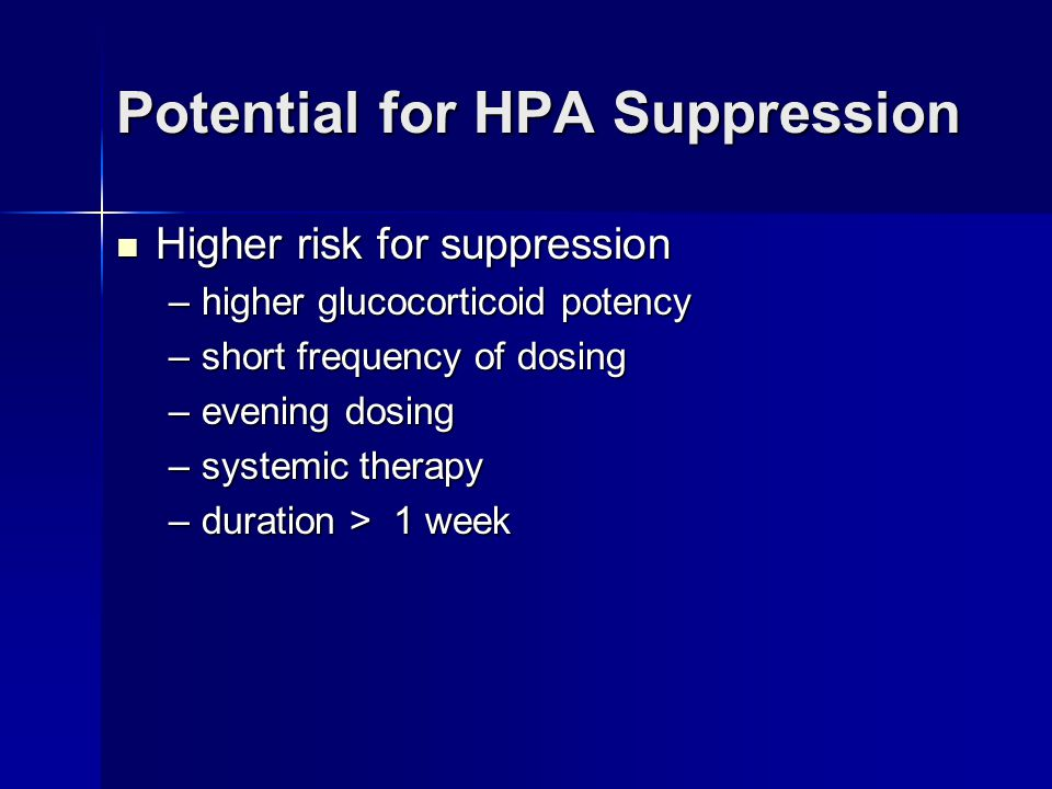 Potential for HPA Suppression