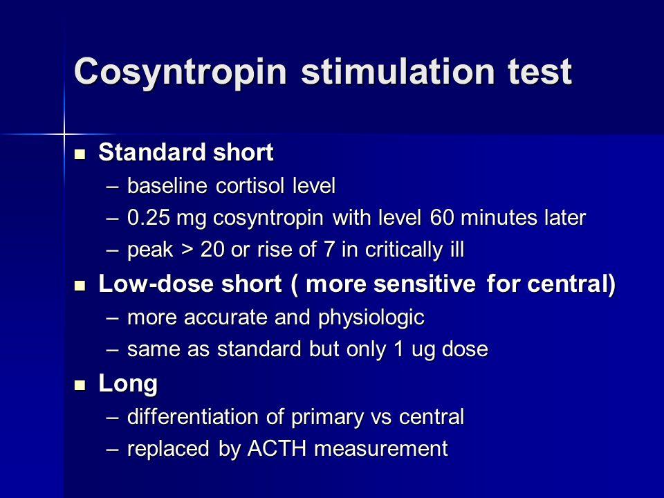 Cosyntropin stimulation test