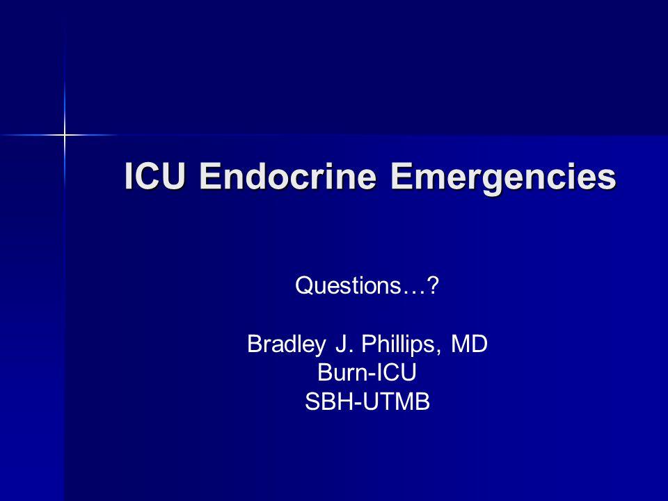 ICU Endocrine Emergencies