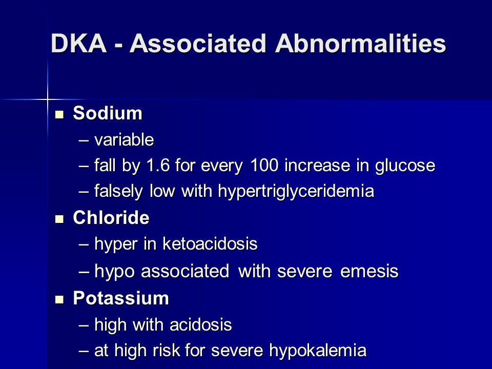 DKA - Associated Abnormalities